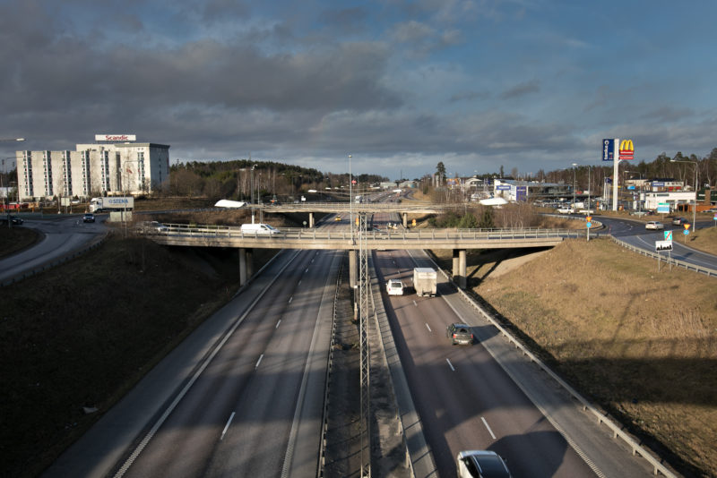 Bro Trafikplats Glädjen i Upplands Väsby
