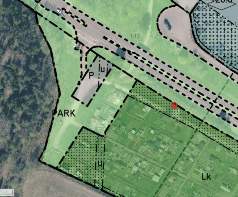 Smedby koloniområde. Ritning från Kart- och GIS-avdelningen, Upplands Väsby kommun